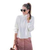 Casual Women's Sweater with  Solid Long Sleeve