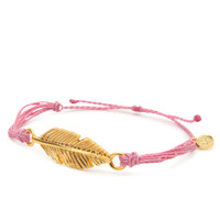 Pura Vida Fuchsia Feather Bracelet at PacSun.com
