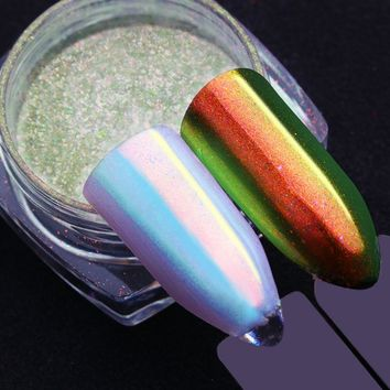 0.2g Born Pretty Unicorn Nail Powder Mermaid Nail Art Chrome Pigment Manicure Decorations in Tip Glitters for Nails