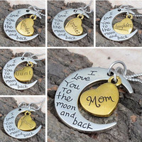 SILVER PLATED - I Love You To The Moon And Back Silver Necklace
