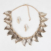 Gilded Leaves Necklace