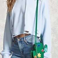 Cactus Faux Leather Crossbody