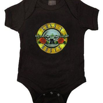 Guns N' Roses Bullet Logo Licensed Infant Baby One Piece Bodysuit - M (6-12)