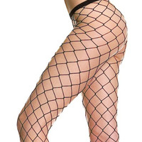 Black Fishnet Diamond Gothic Tights