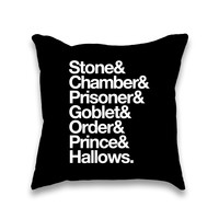 Stone Chamber Prisoner Helvetica Throw Pillow