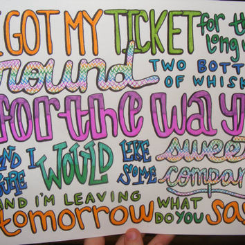 Cups Lyric Drawing by TaylorandEmilysEtsy on Etsy