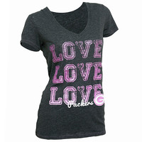 Green Bay Packers Love V - Neck Tee