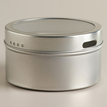 Silver Magnetic Spice Storage Tin, Set of 12 - World Market