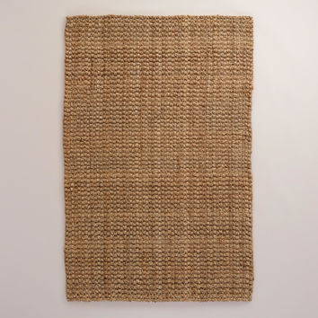 Basket-Weave Jute Rug - World Market