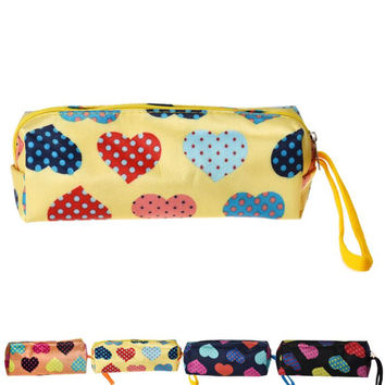 kai yunly 1PC Fashion Women Heart Square Multicolor Cosmetic Bag Makeup Bag Aug 17