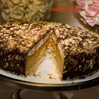 Vegan Hazelnut Pumpkin Smile chocolate cheesecake, love, animal free cruelty,no eggs,no dairy.