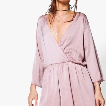 Maria Wrap Front Playsuit | Boohoo