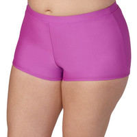 Plus Size - Raspberry Swim Short - Raspberry
