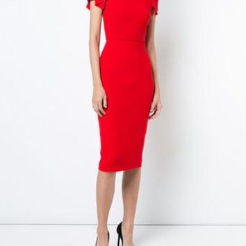 VONEG8Q Roland Mouret Royston Dress - Farfetch
