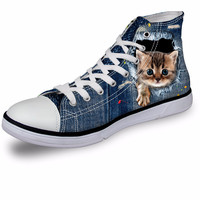 Fashion Cat Canvas Shoe