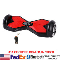 Two Wheels Electric Hover Board Self Balancing Smart Drifting Scooters Black/Red