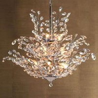 """Upside Down"" Crystal Chandelier - Horchow"