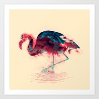 Born Flamingo Art Print by Daniac Design