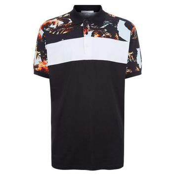 All Over Print Rooster Polo Shirt by Givenchy