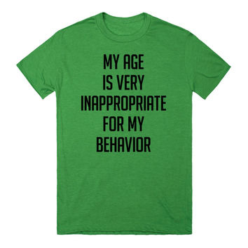 My Age Is Very Inappropriate For My Behavior