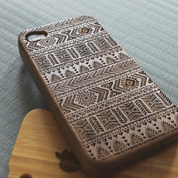 Walnut wood iphone 4 case iphone 4s case aztec iphone 4 case