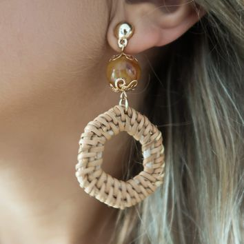 Talk To Me Earrings: Gold/Multi