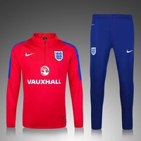 KUYOU England Euro 2016/17 Red Men Tracksuit Slim Fit