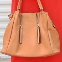 See You Later Purse: Tan