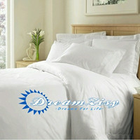 1000TC Egyptian Cotton White Duvet Quilt Cover Set 3pc - Available in All Size