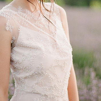 Ephtalite | open back wedding dress  bohemian wedding dress ethereal wedding dress low back wedding dress low back wedding dress