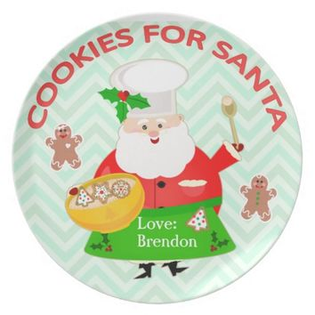 Custom Christmas Cookies For Santa Plate