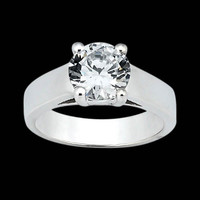 Big diamond solitaire anniversary ring 3 ct. diamond