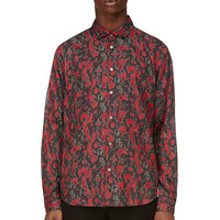 Marc By Marc Jacobs Pink And Grey Sergeant Pepper Spike Shirt