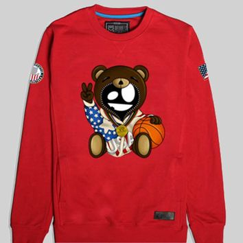 Entree LS Olympic Teddy Red Crewneck Sweatshirt