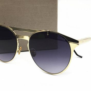 Dior Classic Vintage Round Mirror Brand Designer Sunglasses Metal Lady Circle Retro UV400 Women Or Men  Sun Glasses Rays Victory  [2974244562]