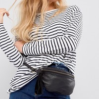 ASOS Leather Classic Fanny Pack at asos.com
