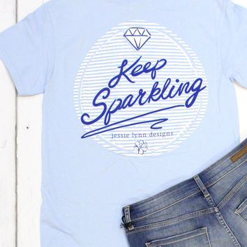 Keep Sparkling Tee {Light Blue}