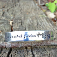 "The Princess Bride Quote Cuff Bracelet ""her heart was a secret garden and the walls were very high"""