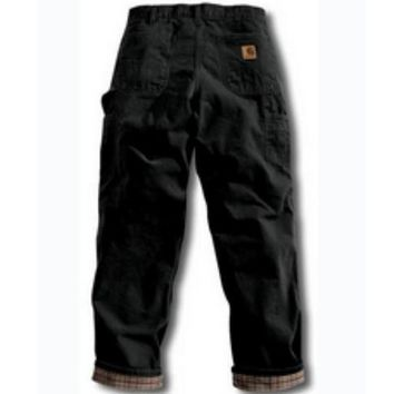 Carhartt Washed Duck Flannel Lined Pant | Black
