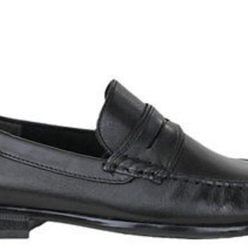 Hush Puppies Mens Slip On Shoes Circuit Penny Black Leatehr Medium (D, M)