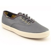 Keds Champion Oiled Canvas Sneakers Athletic Sneakers Shoes Gray Womens