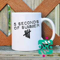 5 Seconds Of Summer Logo Original Coffee Mug, Ceramic Mug, Unique Coffee Mug Gift Coffee