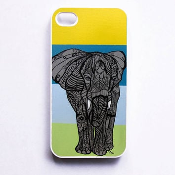 iPhone 4 Case  Elephant Zentangle Art by MayhemHere on Etsy