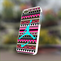 Aztec Nike Jordan Mint - Personalized Case for iPhone 4/4s, 5, 5s, 5c, Samsung S3, S4, S3, S4 mini Pastic and Rubber Case.
