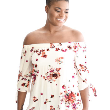 Hillside Flowers Top In Blush
