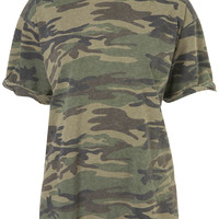 Camo Tee - Jersey Tops - Clothing - Topshop
