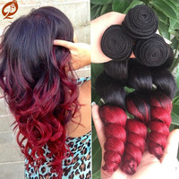 Malaysian loose Wave Ombre Hair Extensions 3pcs
