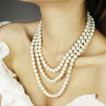 Women's Extra Long Style Pearl Necklace