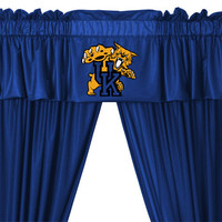 NCAA Kentucky Wildcats 5pc Curtains and Valance Set: 84drop