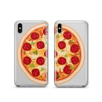 Best Friends Pizza - Clear TPU Case Cover